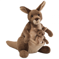 GUND Jirra Kangaroo with Joey Plush Toy 25cm image