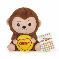 Swizzels Love Hearts Cheeky Monkey Plush Toy 18cm image