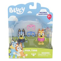 Bluey Pool Time Bluey and Bingo Figurines 2 Pack image